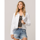 IVY & MAIN Ripped White Womens Denim Jacket