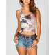 FULL TILT Essential Printed Womens Double Scoop Tank