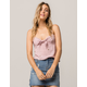 IVY & MAIN Embroidered Knot Front Womens Crop Top