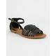 CITY CLASSIFIED Woven Basket Weave Black Womens Sandals