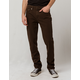 RSQ London Brown Mens Skinny Stretch Jeans