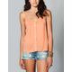 FULL TILT Button Front Womens Cami