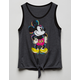Disney Mickey Mouse Tie Front Girls Tank Top