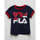 FILA Navy Girls Ringer Tee