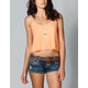 FULL TILT Lace Crop Womens Cami