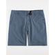 NITROUS BLACK Wash Up Indigo Mens Hybrid Shorts