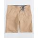 CHARLES AND A HALF Lincoln Stretch Dark Khaki Boys Shorts