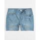 RSQ Hampton Midi Girls Ripped Denim Shorts