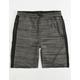 BROOKLYN CLOTH Space Dye Black Boys Sweat Shorts