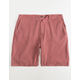 VALOR Pigment Dyed Rose Mens Shorts
