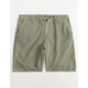 VALOR Pigment Dyed Olive Mens Hybrid Shorts