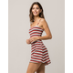 SKY AND SPARROW Ribbed Stripe Dress