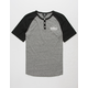 VOLCOM Banks Black Boys Henley