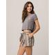 IVY & MAIN Stripe Tie Waist Womens Linen Shorts