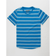 BROOKLYN CLOTH Double Stripe Royal Boys T-Shirt
