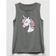 WHITE FAWN Unicorn Girls Muscle Tank