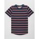 BROOKLYN CLOTH Double Stripe Navy Boys T-Shirt