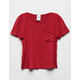 DESTINED Red Girls Pocket Tee