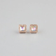 FULL TILT Square Rhinestone Earrings