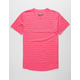 BROOKLYN CLOTH Stripe Hot Pink Mens T-Shirt