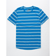 BROOKLYN CLOTH Double Stripe Royal Mens T-Shirt