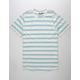 BROOKLYN CLOTH Double Stripe White Mens T-Shirt