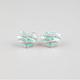 FULL TILT Frosted Epoxy Rhinestone Heart Stud Earrings