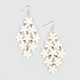 FULL TILT Frosted Facet Flower Chandelier Earrings