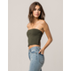 HEART & HIPS Olive Womens Tube Top