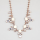 FULL TILT Rose Crystal Leaf Statement Necklace