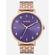 NIXON Maintained Collection Arrow Rose Gold & Purple Watch