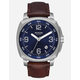 NIXON Charger Leather Blue & Brown Watch