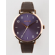 NIXON Arrow Leather Chocolate Lavender & Rose Watch