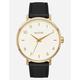 NIXON Arrow Leather Gold Cream & Black Watch