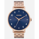 NIXON Maintained Collection Arrow Rose Gold & Steel Blue Watch