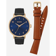 NIXON 2 Pack Arrow Leather Gold & Navy Watch