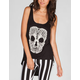 FULL TILT Lace Skull Womens HI Low Tank