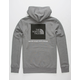 THE NORTH FACE Red Box Heather Grey Mens Hoodie