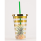 Pineapple Gold Stripe Tumbler
