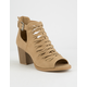 SODA Nihal Peep Toe Womens Booties
