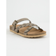SODA Braided Strap Buckle Taupe Womens Sandals