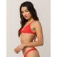 BILLABONG Sol Searcher Red Bikini Top