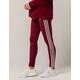 ADIDAS 3 Stripes Burgundy Womens Leggings