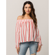 RIP CURL Shoreside Womens Off The Shoulder Top