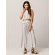 FULL TILT Stripe Womens Crop Top And Pants Set