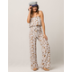 IVY & MAIN Floral Womens Tube Top And Pants Set