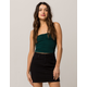 SKY AND SPARROW Cinch Front Hunter Green Womens Tube Top