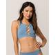 ROXY Softly Love High Neck Blue Bikini Top