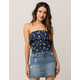 FULL TILT Pineapple Flounce Womens Tube Top