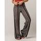 SKY AND SPARROW Linear Medallion Womens Wide Leg Pants
